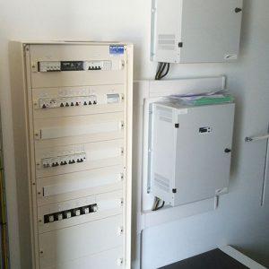 Tableau basse tension et coffret de batterie 48VDC