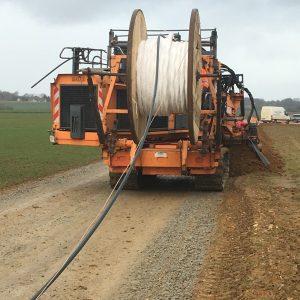 Trancheuse - Déroulage de câble HTA